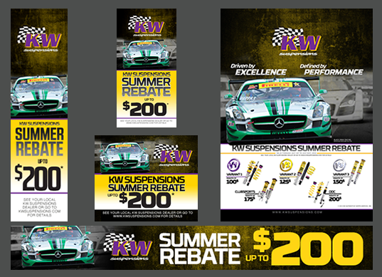 200 Rebate on participating KW Suspensions Product Web Banners